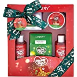 Bath and Body Christmas Gift Box For Women – 10 Piece Set of Velvet Sugar Home Spa Set, Includes Fragrant Lotions, 6 Bath Bom