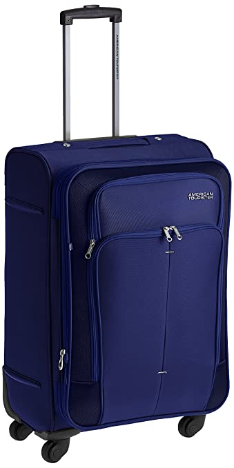 Image result for American Tourister Crete Polyester 67 cms Ink Blue Softsided Check-in Luggage (49W (0) 01 002)