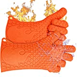 Ekogrips BBQ Grill Gloves | Best Versatile Heat Resistant Oven Gloves | Lifetime Replacement | Insulated Silicone Oven Mitts For Grilling | Waterproof | Full Finger, Hand, Wrist Protection | 3 Sizes