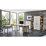 Büromöbel Arbeitszimmer komplett Set OFFICE EDITION (Set 4) in Eiche Sonoma/Weiß
