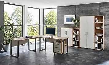 Buromobel Arbeitszimmer Komplett Set Office Edition Set 4 In Eiche