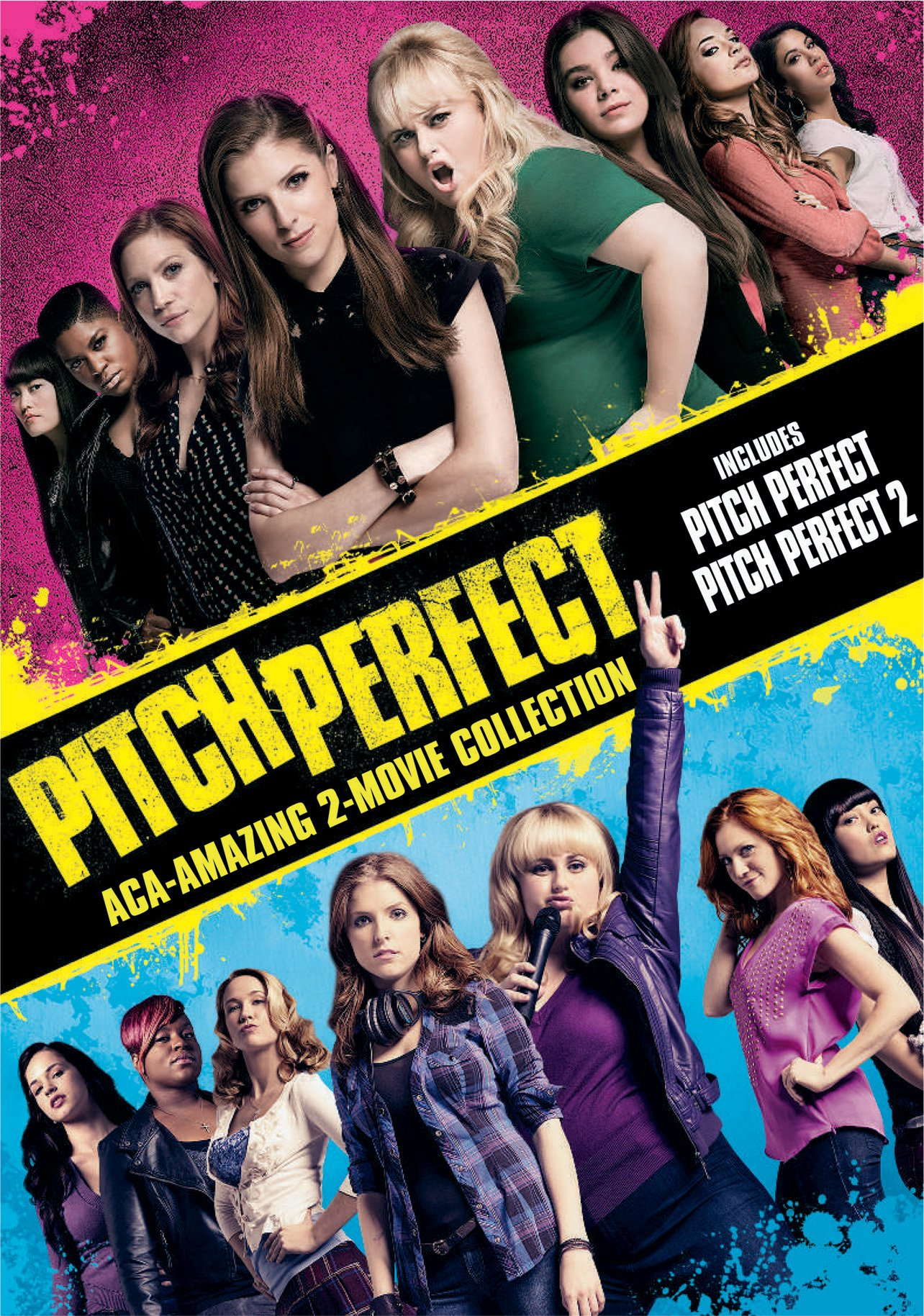 DVD : Pitch Perfect: Aca-Amazing 2-Movie Collection (2 Pack, Snap Case, Slipsleeve Packaging, 2 Disc)