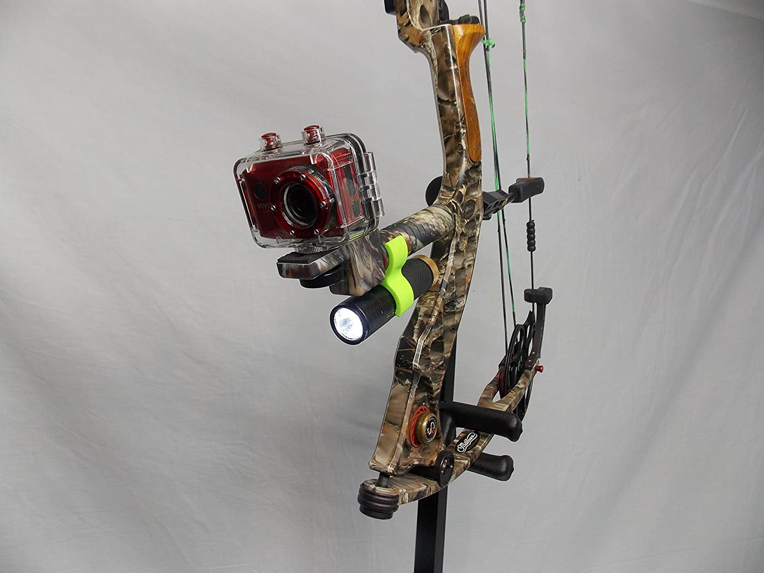 Archery; Attach Smartphone GoPro Lg Android Black Standard Camera iPhone Samsung Htc Motorola High Point Products Bow Camera Mount and Stabilizer; For Hunting Nexus