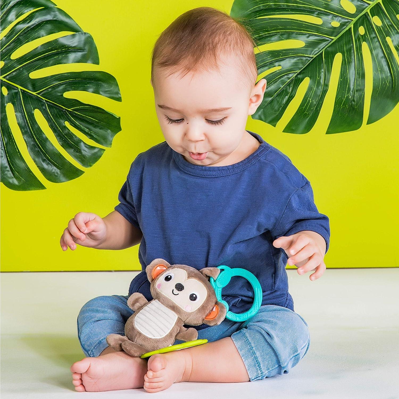 Bright Starts Tug Tunes On-The-Go Take-Along Toy Monkey Newborn