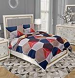 "RRC Gless Cotton 200TC Single Duvet/Quilt/Razai/Comforter Cover 60"" x 90"" Inch (Cyan)"