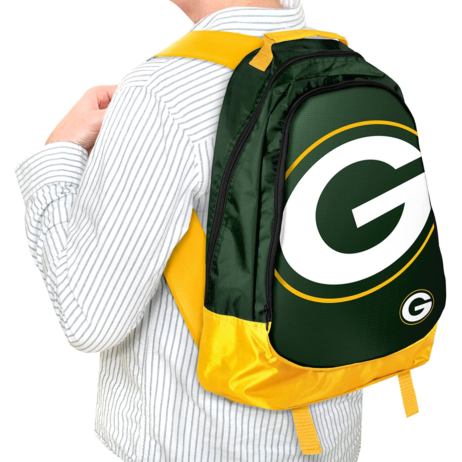 c81009f77f0d Amazon.com   Forever Collectibles NFL Green Bay Packers Core Structed  Backpack   Sports Fan Backpacks   Sports   Outdoors