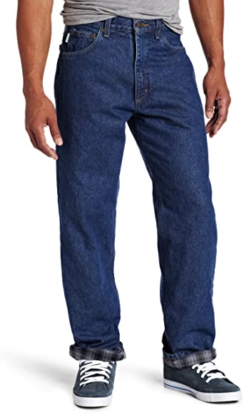 Carhartt Men S Relaxed Fit Straight Leg Flannel Lined Jean At Amazon Men S Clothing Store Flannel Lined Jeans