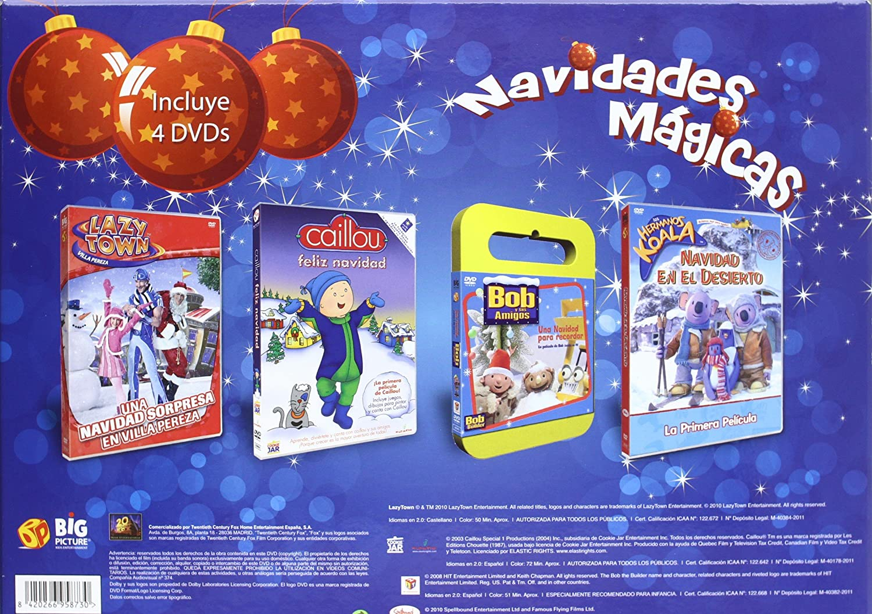 Maletin Navidad Caillou  Bob  Lazy  DVD Amazones Dibujos