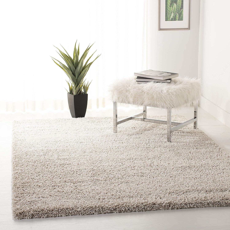 """Safavieh California Premium Shag Collection SG151-1313 Beige Square Area Rug (8'6"""" Square)"""