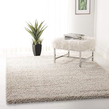 3f2099f0c2f9cd Amazon.com: Safavieh California Premium Shag Collection SG151-1313 Beige Area  Rug (5'3