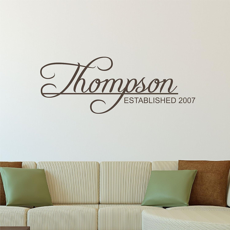 Amazon Com Custom Family Name Wall Decal Personalized Name Wall Sticker Custom Name Wall Sign Monogram Stencil Handmade