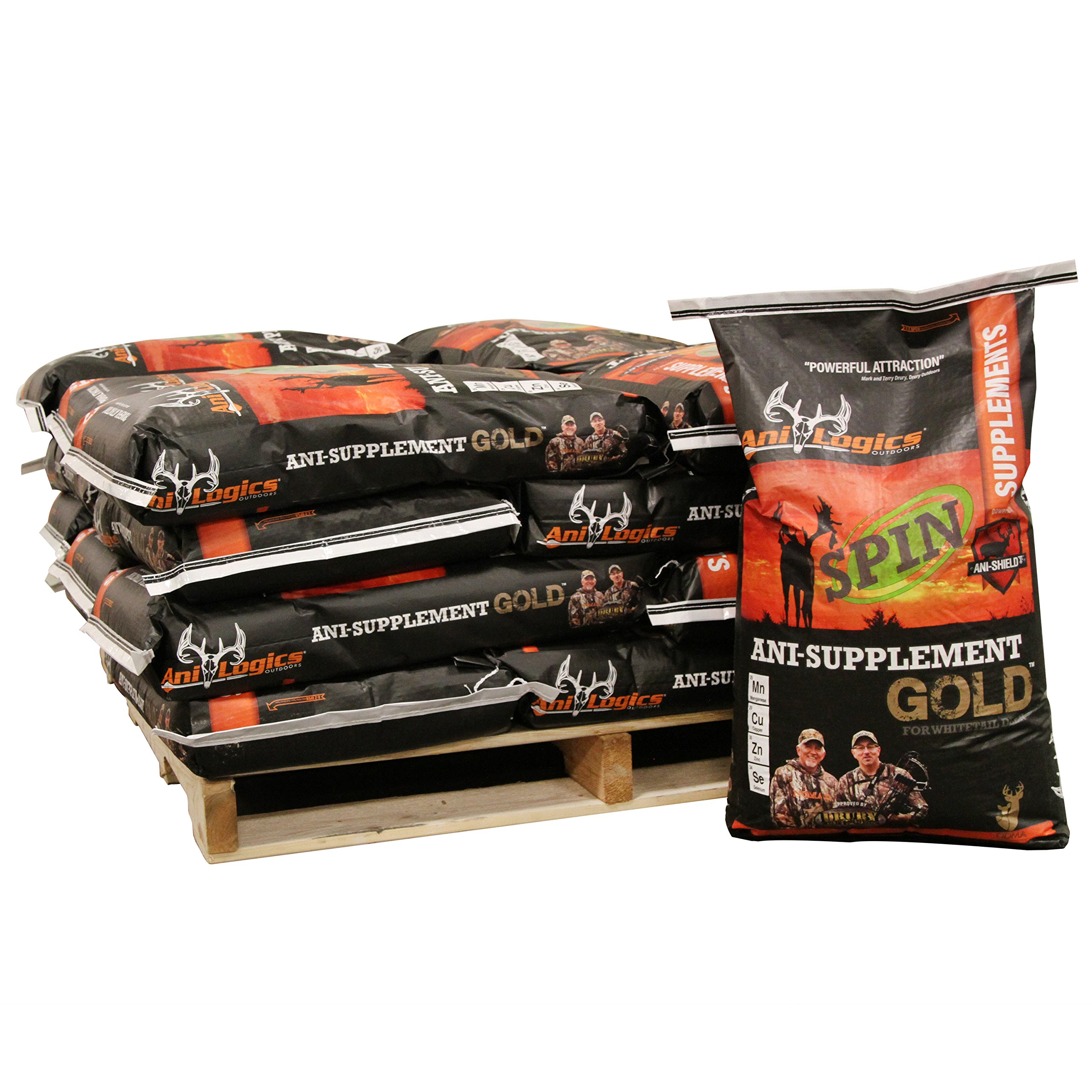 Ani-Logics Outdoors ANI-Supplement Gold Spin Half Pallet