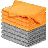 USANOOKS Microfiber Cleaning Cloth - 8Pcs (12x16 in) High Performance, 1200 Washes - Grip Root, Ultra Absorbent, Weave Traps