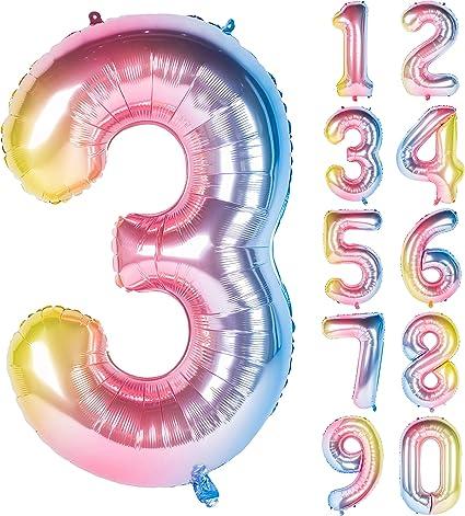 Amazon.com: Globos de helio con números de gradiente ...