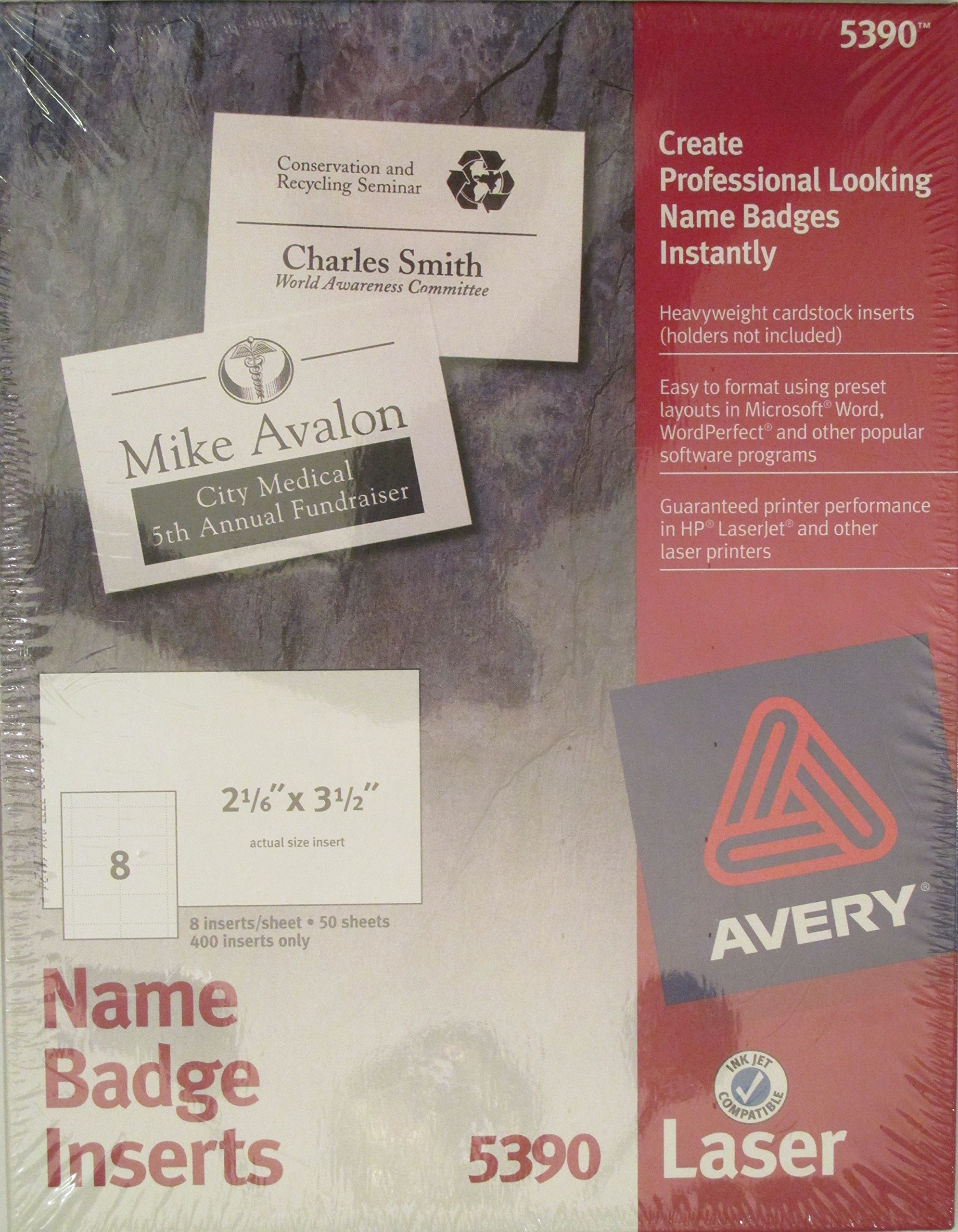 Ave5390Us Refill F 5883 Nametag 400