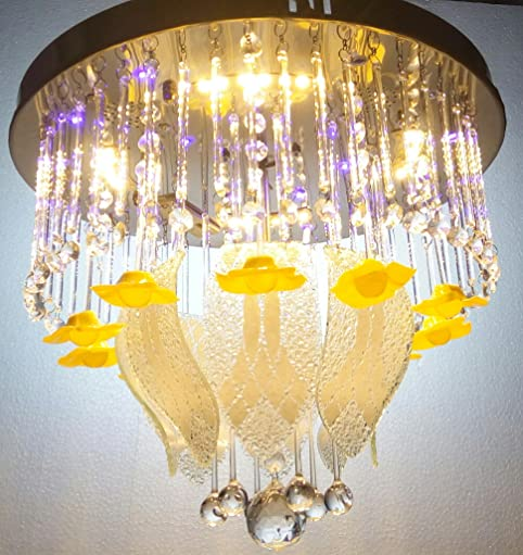 Buy 400 mm Led Jhoomer Ceiling Light Decorative LED Chandelier ...