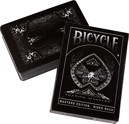 2 DECKS BICYCLE ELLUSIONIST SHADOW MASTERS AND BLACK GHOST PLAYING CARDS NEW