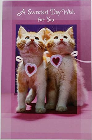 """Un día más dulce deseo para ti Tarjeta de felicitación w/gatos """"un"""