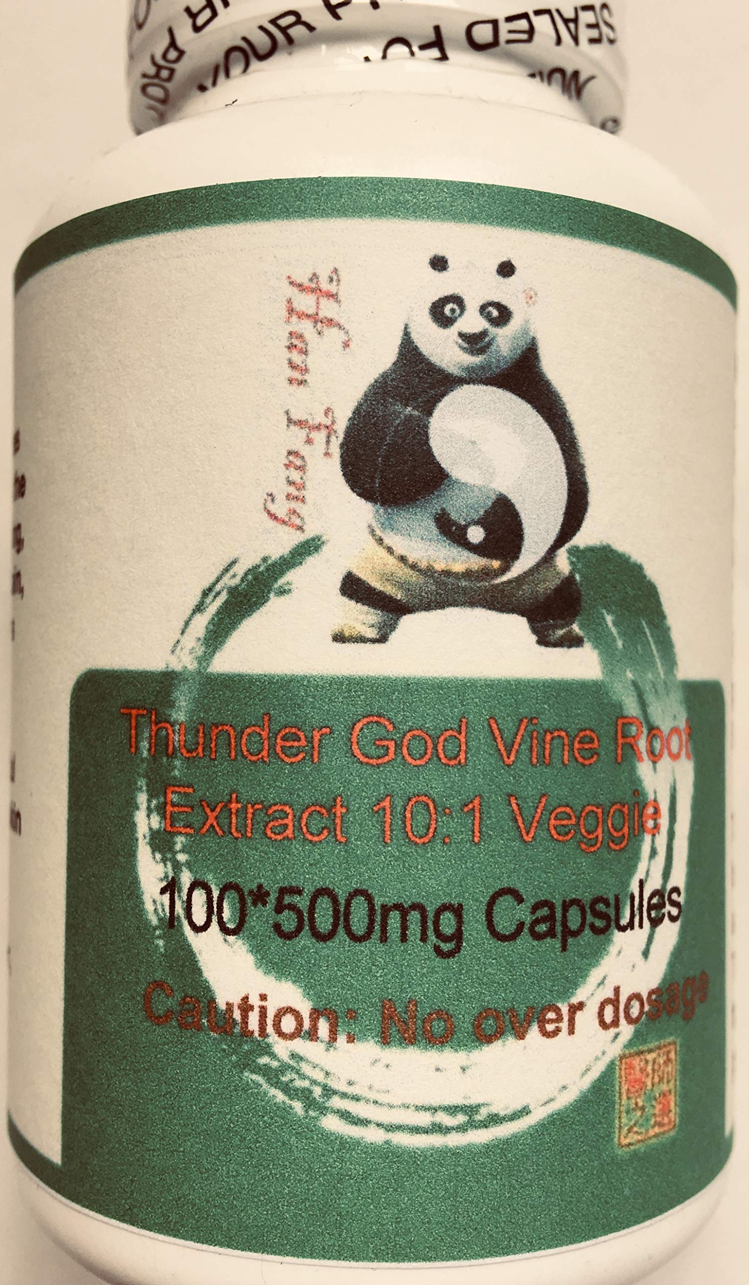 100 * 500mg Vegi-Capsules of Tripterygium Wilfordii, Thunder God Vine Root, Lei Gong Teng 10:1 Granules 50g by Baicao by Treasure of the East