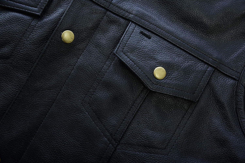 Sons of Anarchy gilet da motociclista in pelle con bottoni in ottone