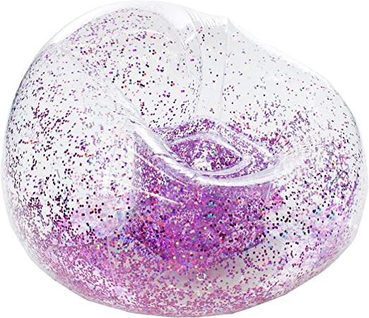 Amazon.com: Glitter BloChair - Silla hinchable con purpurina ...