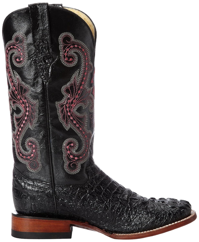 Ferrini Women's Print Crocodile S-Toe Western Boot B00D08KB8A 7.5 B(M) US Black/Pink Cross