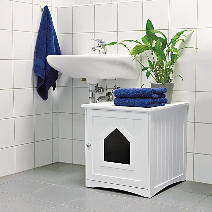 Trixie Mueble de Baño, 49 × 51 × 51 cm, Blanco: Amazon.es: Productos para mascotas