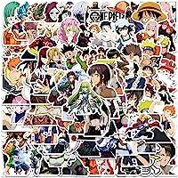 Anime stickers voor kinderen, tieners en volwassenen, 100 stuks, vinyl, cartoon-mix, stickers voor laptop, skateboard…