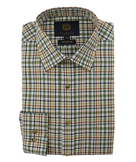 3f8aa1ecda Viyella Classic Rust Multicoloured Check Mens Cotton Casual Shirt:  Amazon.co.uk: Clothing