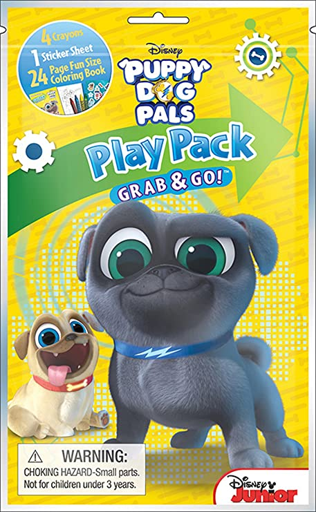 Amazon Com Bundle Of 3 Puppy Dog Pals Coloring Activity Items