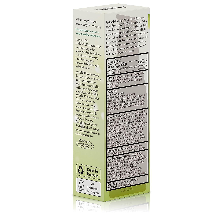 amazon com aveeno positively radiant sheer daily moisturizing