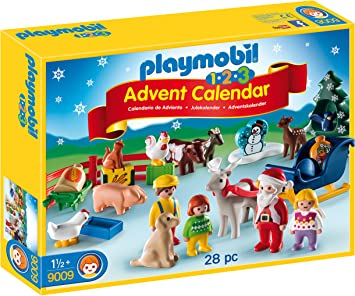 Playmobil   9009   Jeu   Calendrier Avent 1 2 3 à La Ferme: Amazon