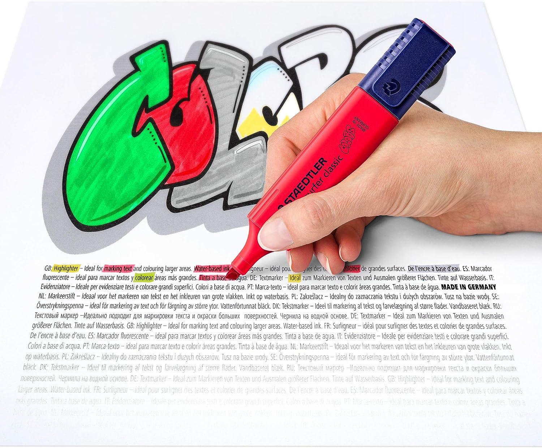 Staedtler Textsurfer Classic Evidenziatori dai colori brillanti Quattro colori assortiti.