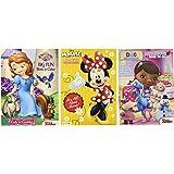 Disney® Coloring and Activity Book Assortment; Minnie Mouse, Princess Sofia, Doc Mcstuffins (3 Books ~ 96 Pgs Each)