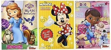 DisneyR Coloring And Activity Book Assortment Minnie Mouse Princess Sofia Doc Mcstuffins