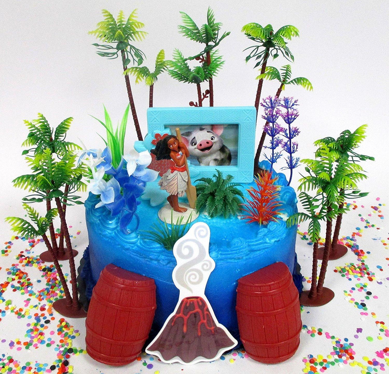 Amazon Moana Deluxe Island Themed Birthday Cake Topper Set