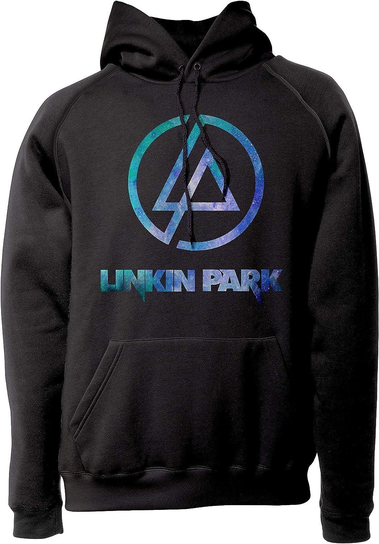 Sweat /à Capuche Metal Rock Band LaMAGLIERIA Sweat Unisex Linkin Park Light Blue Texture