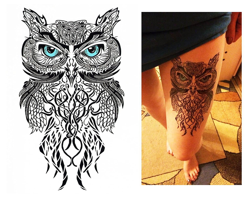 Tatuajes temporales Tempo rary Tattoo Fake Tattoo – Búho de Ojos ...