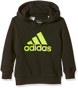 adidas Essentials Logo Boy s Hoodie Multi-Coloured black yellow Size  7-8 69a75d44e6
