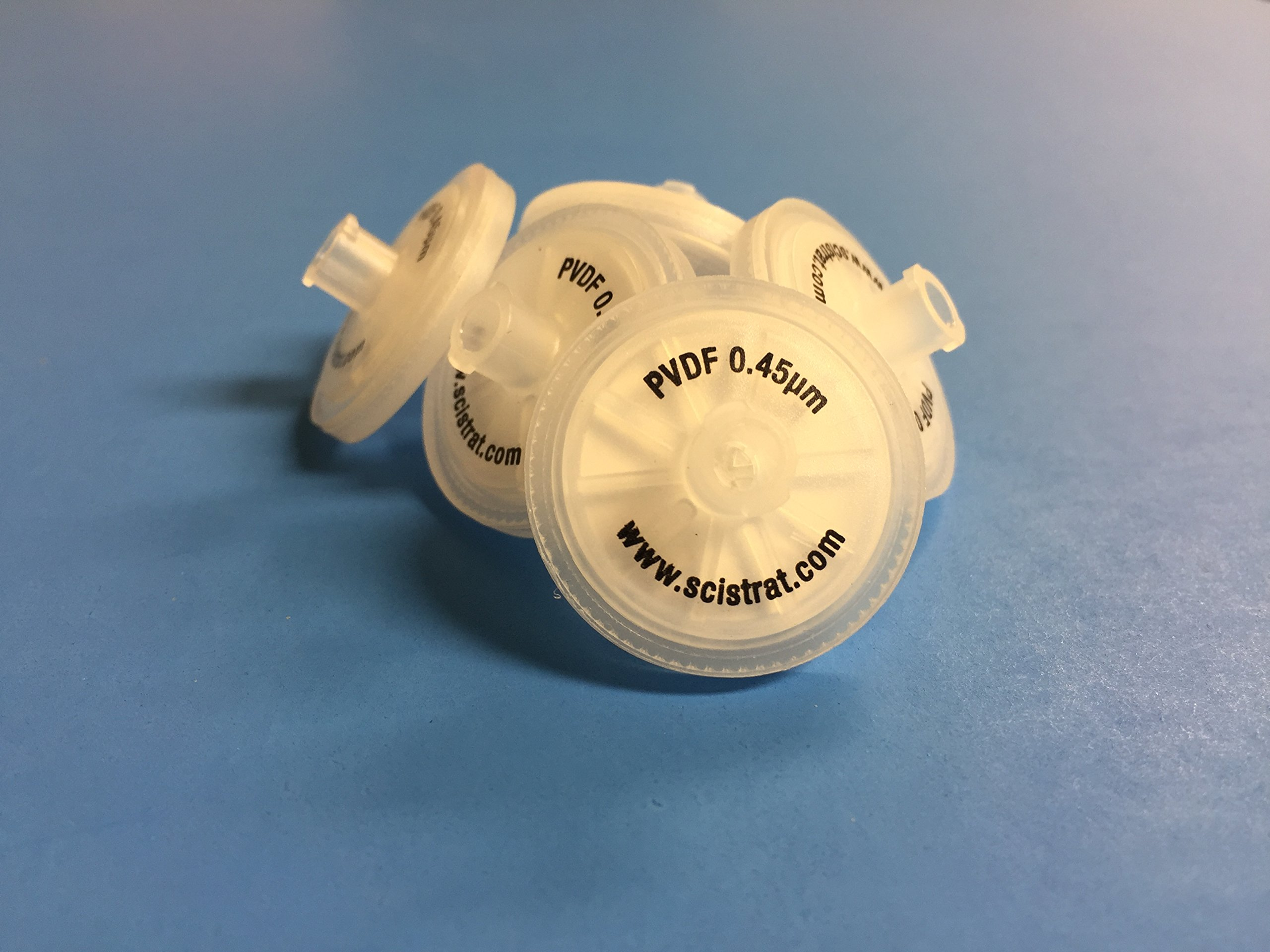 Syringe Filter, PVDF, 25mm diameter, 0.45um, 10/pk