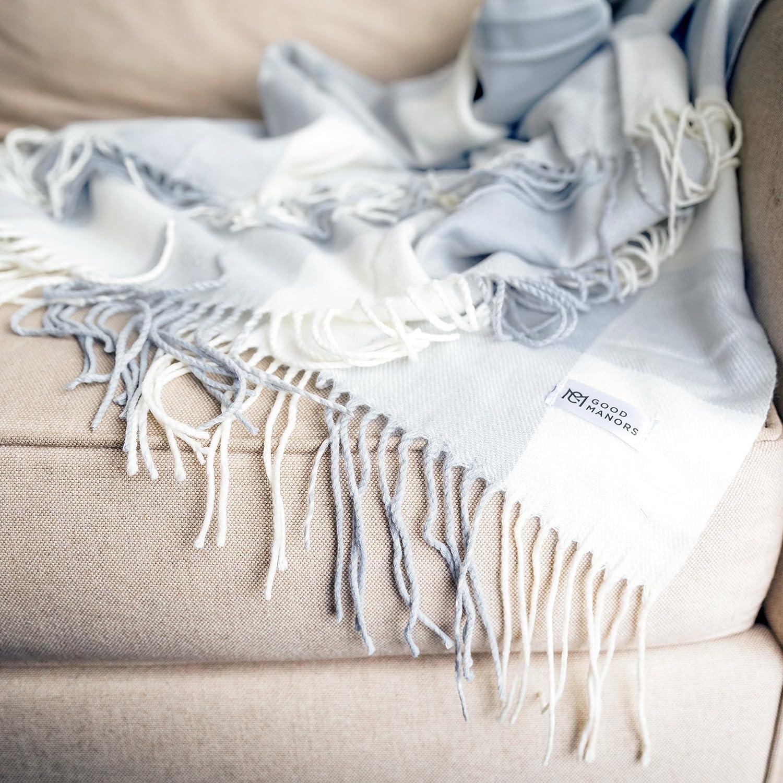 スロー毛布、軽量、Woven、Snag &フェード耐性、カジュアル、Cozy、暖かい、ソフト、インドア/アウトドア、日常使用 – 50 x 60