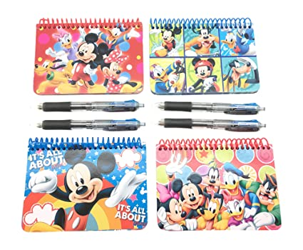 picture relating to Printable Disney Autograph Book called Formal Disney Autograph Guides 4-Pack Mickey, Minnie, Mickey Buddies, Clubhouse Pals with 4- Multi-Colour Pens