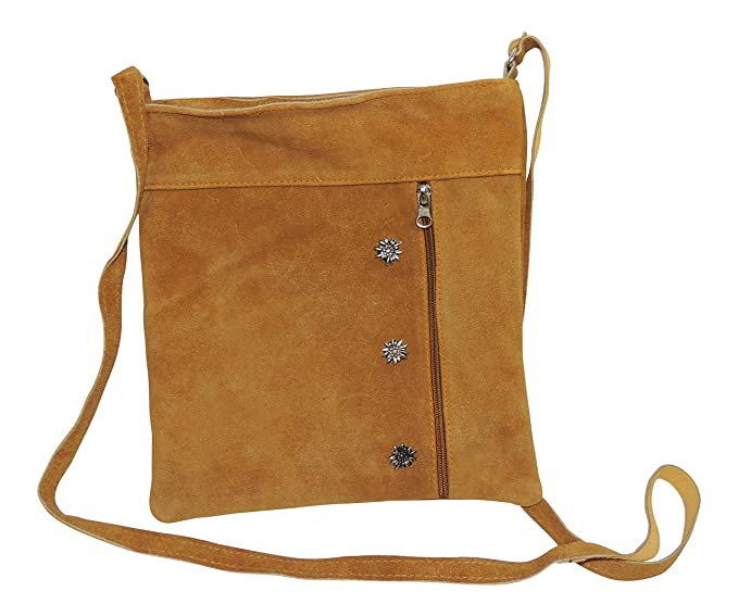 Ms Trachten Dirndltasche Handtasche Ledertasche Classic Camel