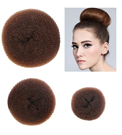 Amazon Com Styla Hair 3 Piece Donut Hair Bun Maker 1 Small 1