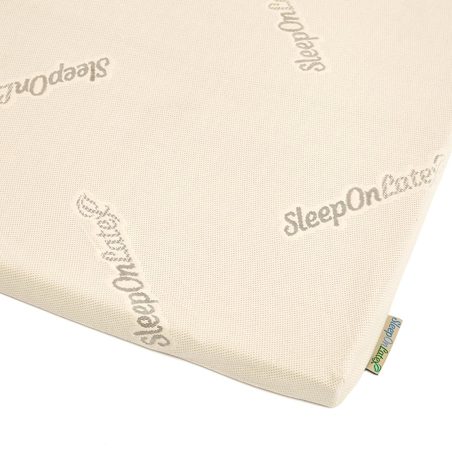 Sleep On Latex Organic Cotton Mattress Topper Cover - 1
