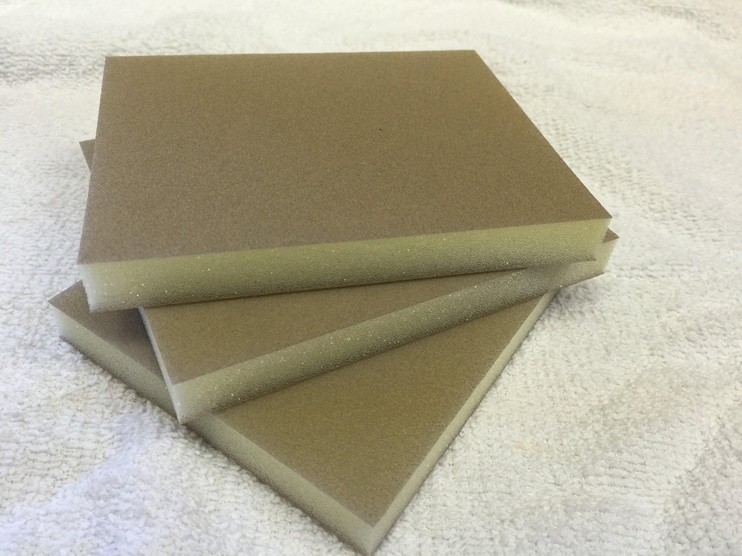 Klingspor Foam Sanding Pad 220 Foam Sanding Pad A/O 5'' x 4'' x 1/2'' - 220 Grit, Pack of 10 by Klingspor