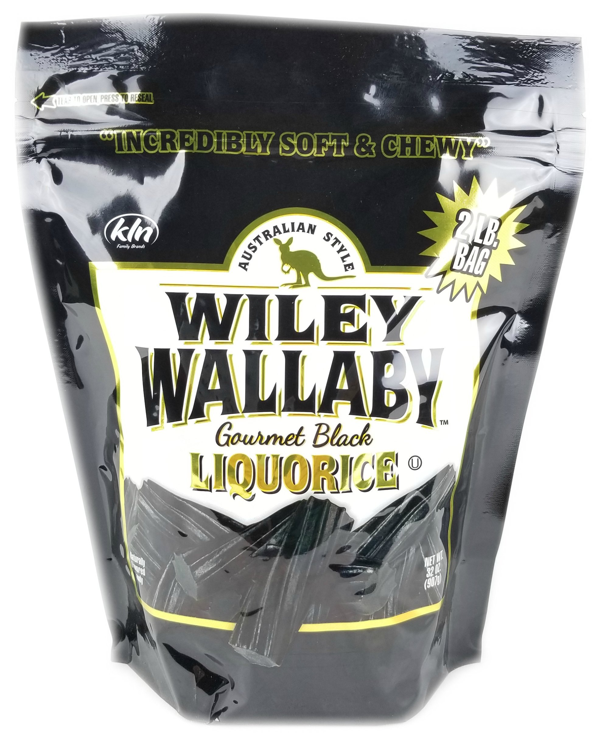 Wiley Wallaby Australian Gourmet Style Black Licorice Candy 32 Oz. 2 LB by Wiley Wallaby