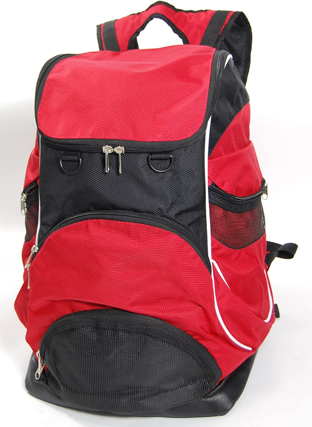 Elite Team Swimmer Backpack, Large Swimming Backpack with Pocket for Shoes Wet Items – Red