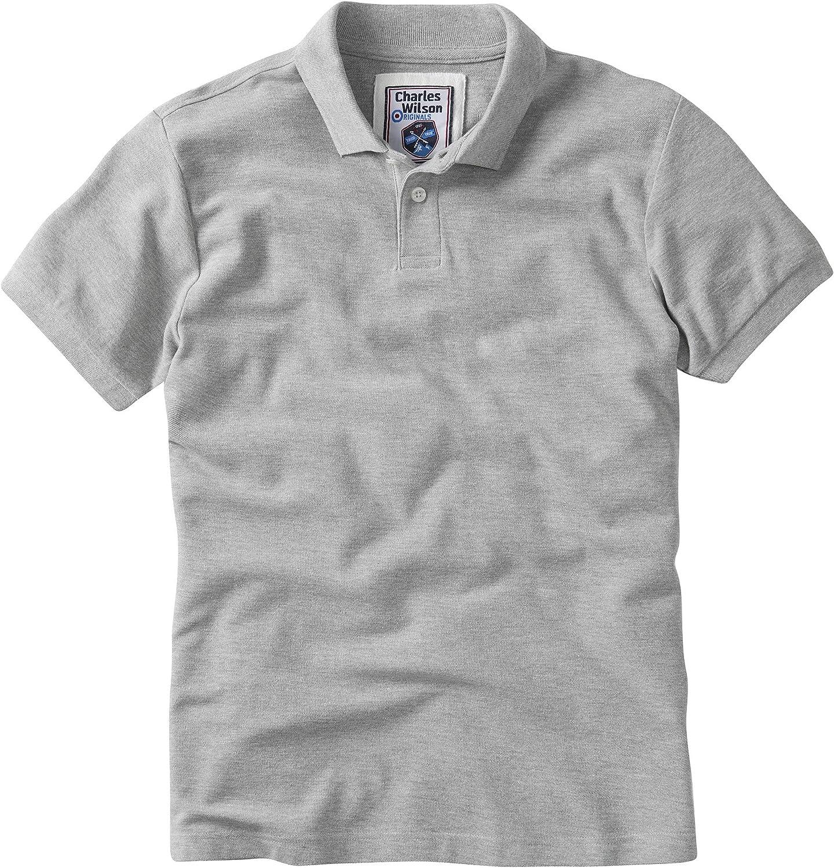 Charles Wilson Camiseta Polo Cl/ásica Lisa