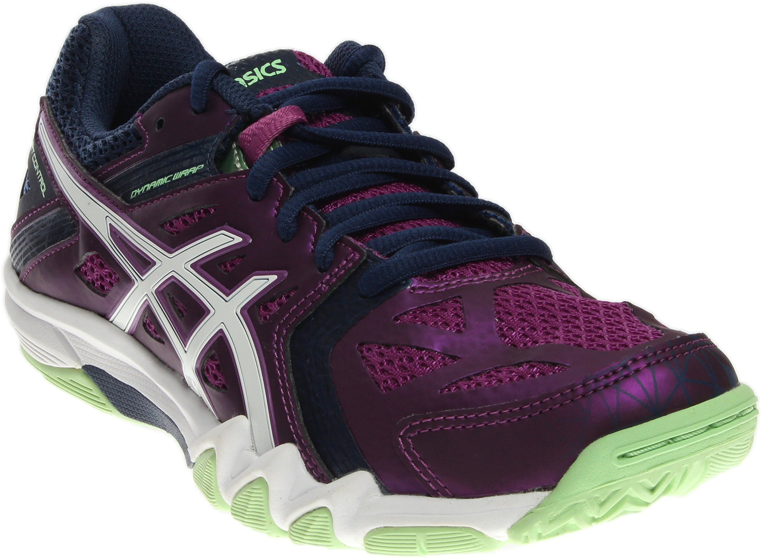 ASICS Women's Gel Court Control Volleyball Shoe, Grape/Navy/White, 6.5 M US